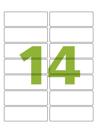 Etiqueta Adesiva Medida 99,1x38,1 mm