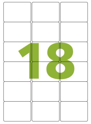 Etiqueta Adesiva Medida 63,5x46,6 mm