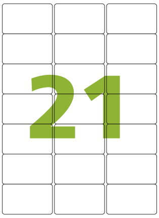 Etiqueta Adesiva Medida 63,5x38,1 mm