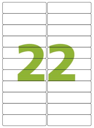 Etiqueta Adesiva Medida 25,4x99 mm