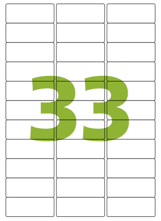 Etiqueta Adesiva Medida 25,4x63,5 mm
