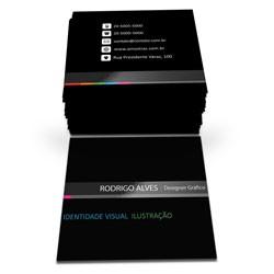 Mini Cartão Laminado Fosco + Verniz (frente e verso)